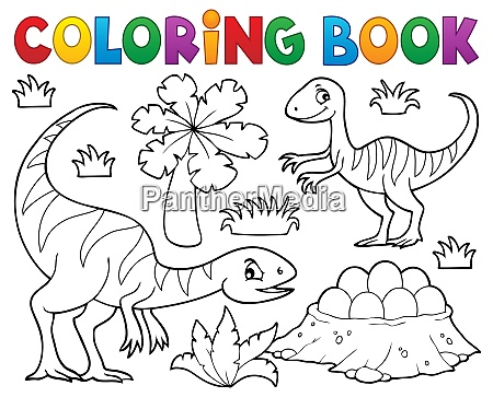 coloring book dinosaur subject image 1