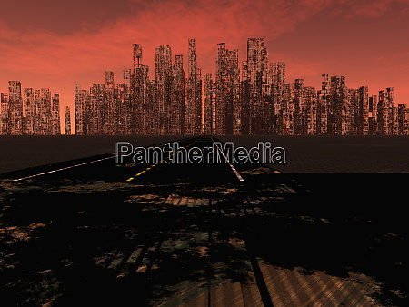 road to dead city red sky