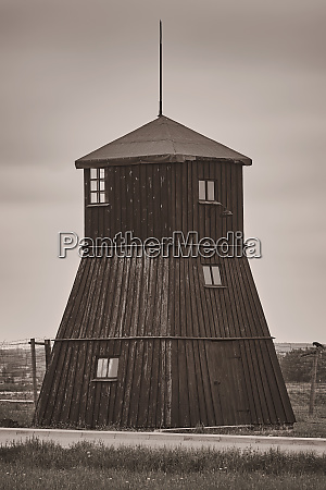guard tower in the former concentration