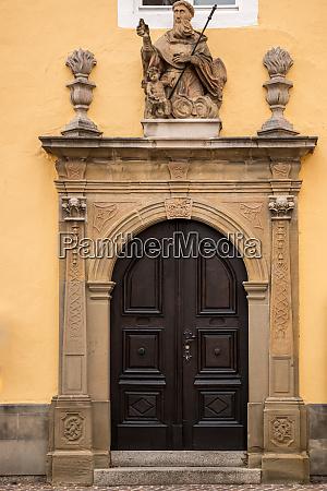 old door of a historical building