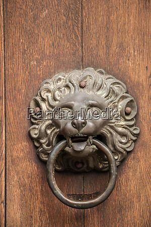 door knob of an old historical