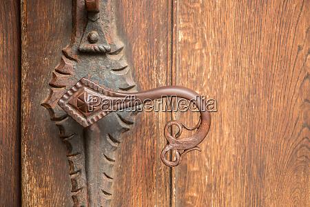 door handle of an old historical