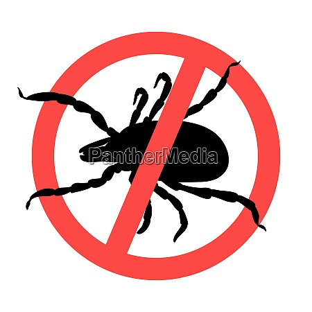 mite parasites tick silhouette symbol parasite