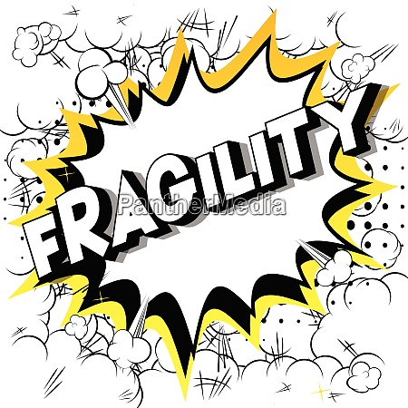 fragility comic book style words