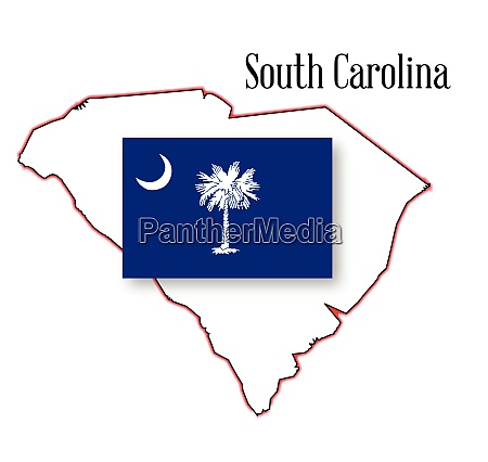 south carolina state map and flag