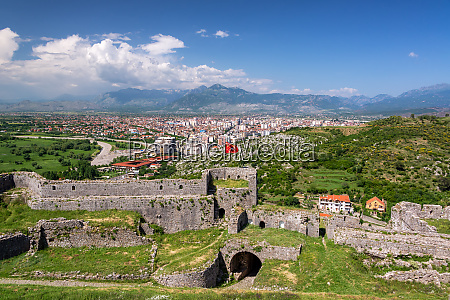 rozafa castle and shkoder view