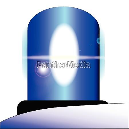 police blue light