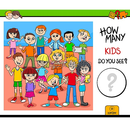 counting kid characters educational activity