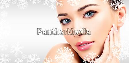 closeup headshot portrait of a beautiful