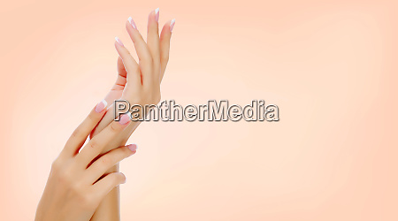 beautiful female hands closeup shot