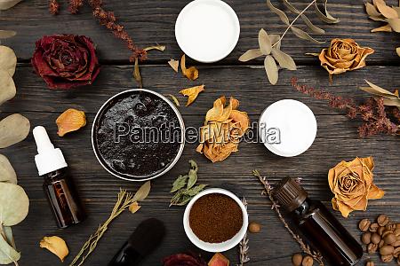 aromatic botanical cosmetics dried herbs flowers