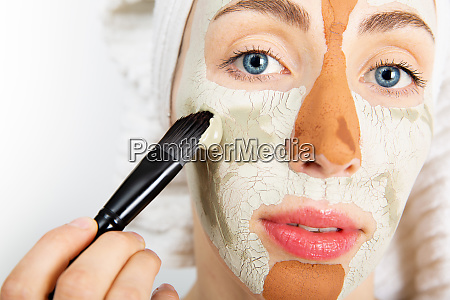 beauty procedures skin care concept young