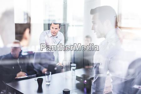 business team brainstorming on meeting in