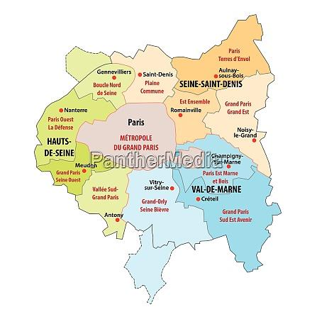 administrative map of the municipal association