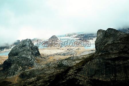 marmolada glacier at daylight