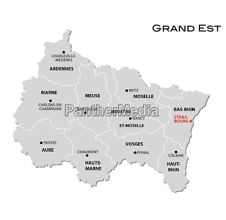 simple gray administrative map of the