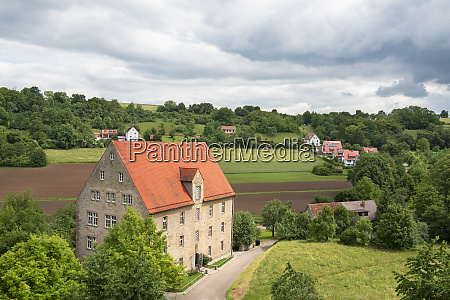 german countryside scenery on a sunny
