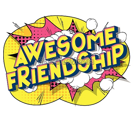 awesome friendship comic book style
