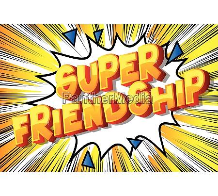 super friendship comic book style