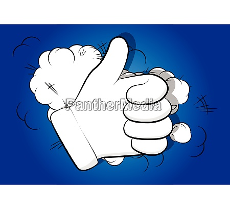 vector cartoon hand thumbs up sign