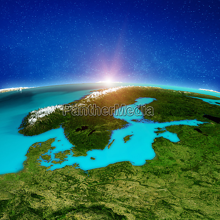 scandinavia space background