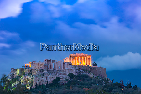 acropolis, hill, and, parthenon, in, athens, - 26167221