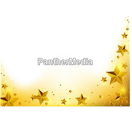 gold christmas starry background