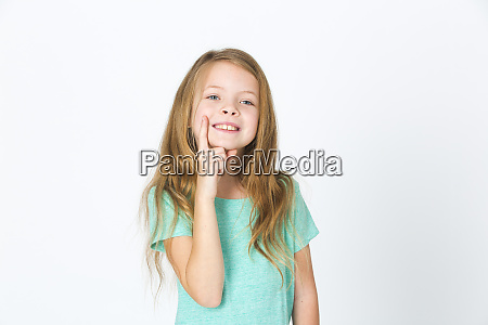 portrait of young pretty blonde girl