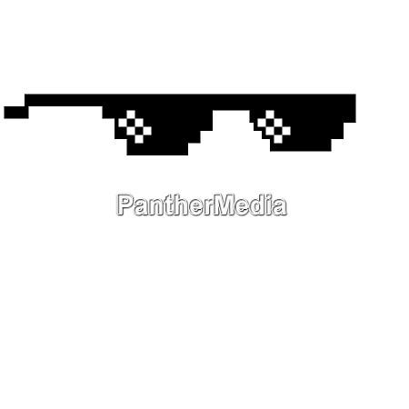 thug life sunglasses black prank illustration
