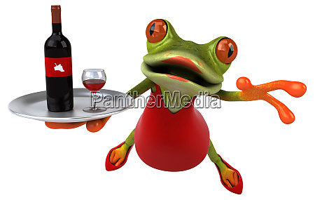 fun, frog, -, 3d, illustration - 26170057