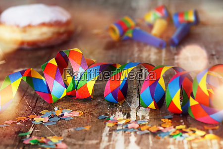 carnival decoration with sweet pastry