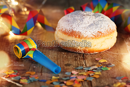 carnival celebration with donut