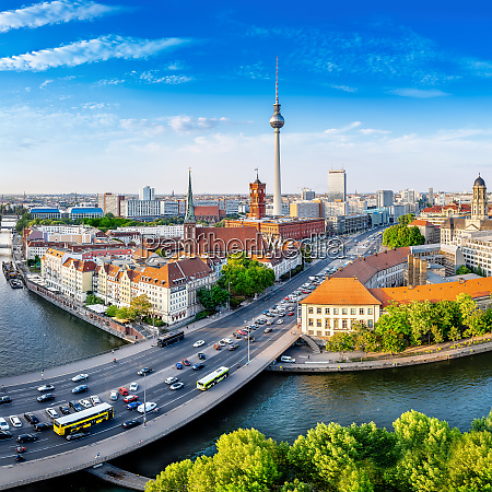 panoramic view at central berlin on