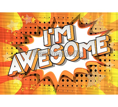 im awesome vector illustrated comic