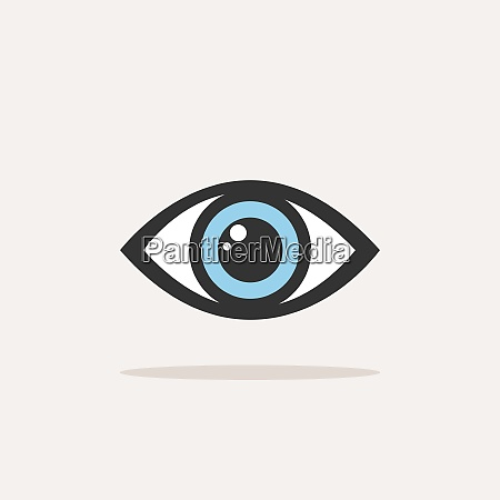 blue eye icon with shade on