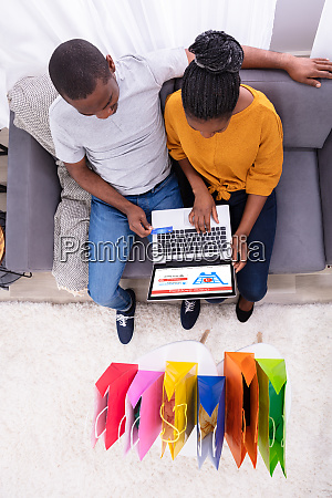 high angle view of a couple