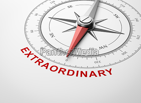 compass on white background extraordinary concept