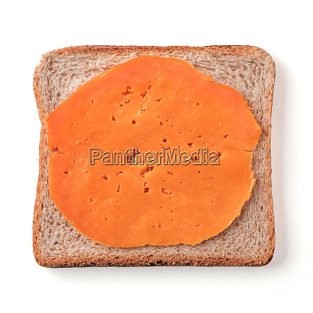 bread slice isolated on white with