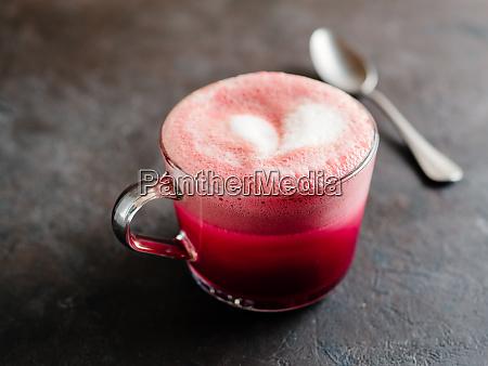 pink beetroot latte or red velvet