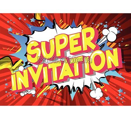super, invitation, -, comic, book, style - 26181440