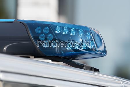 detail shot of a blue light