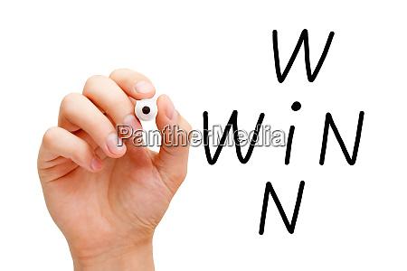 win win business crossword concept