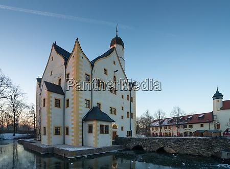water castle klaffenbach near chemnitz in