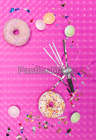 pink carnival effect background with various