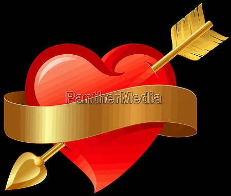 heart arrow love valentine romance cupid