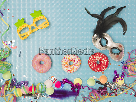 special blue effect background with donuts