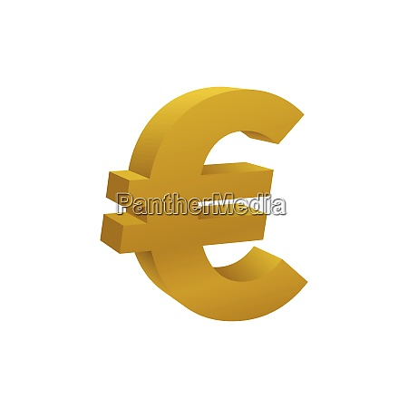 gold colored euro symbol currency icon
