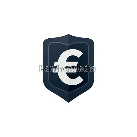 euro symbol on badge currency icon