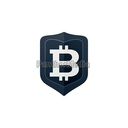 bitcoin symbol on badge currency icon