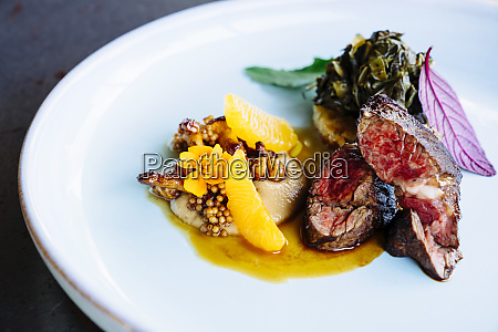 beef tenderloin with chanterelle mushrooms mandarin